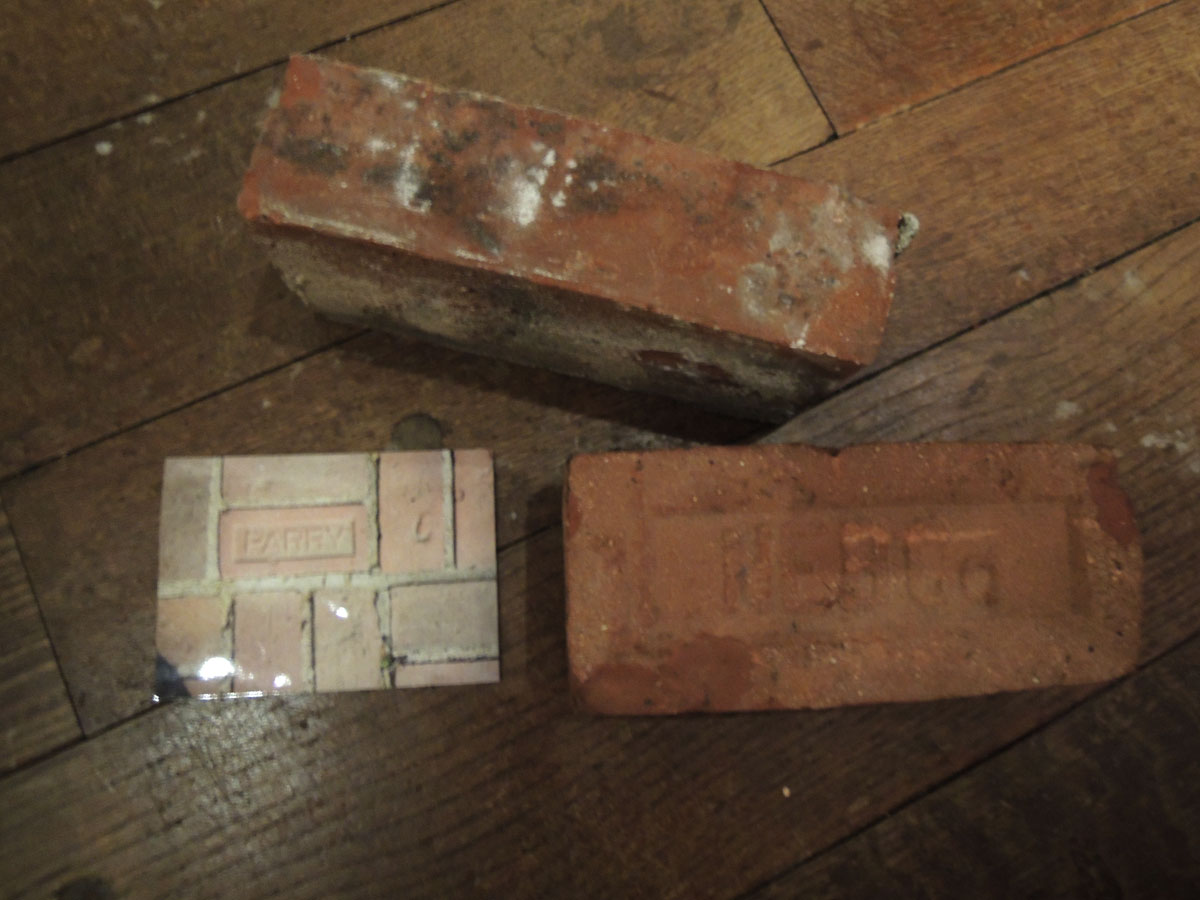 Clay bricks made at Claypit Pond