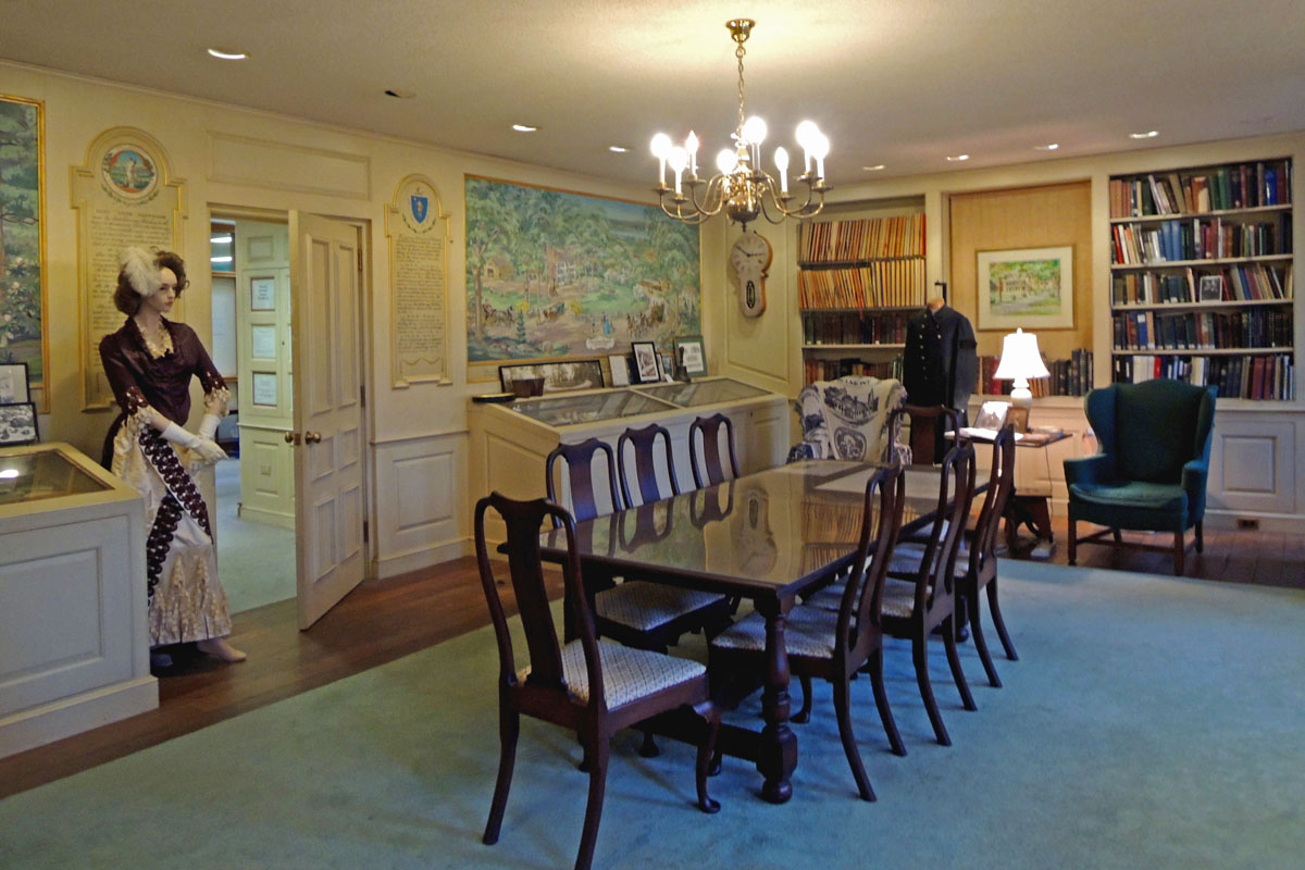 The Claflin Room houses the Belmont Historical Society's collection of artifacts and ducuments