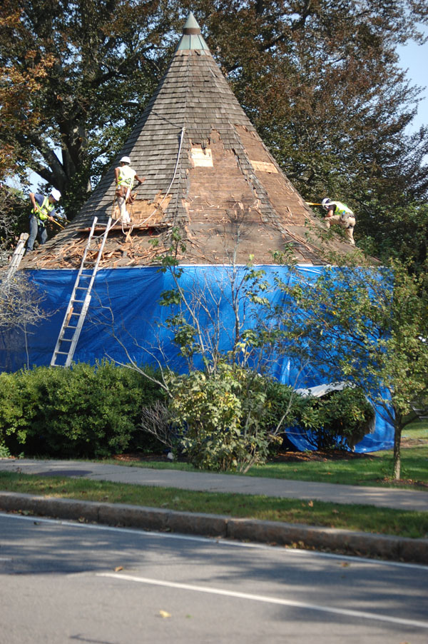 September 2017: Beginning the roof replacement