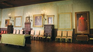 "The Gardner Museum's Dutch Room still displays empty frames where Rembrandt's ""A Lady and Gentleman in Black"" and ""The Storm on the Sea of Galilee"" once hung."