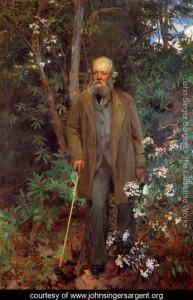 1895 portrait of Frederick Law Olmstead by John Singer Sargent. Original in Biltmore Estate, Asheville, NC