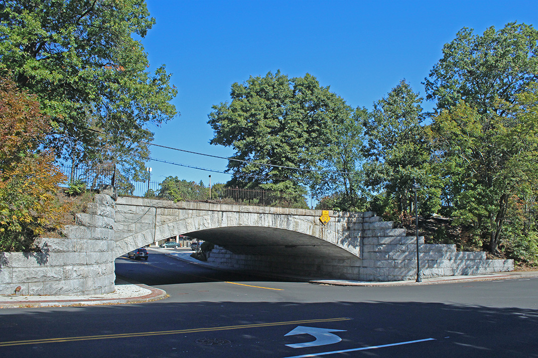 The Stone Railroad Bridge At The South Entrance To Belmont Center