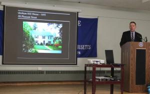 Joe Cornish made the Historic House Plaque presentations on behalf of the Society