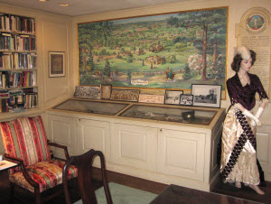 The Claflin Room houses the Belmont Historical Society's collection of documents, images, and artifacts