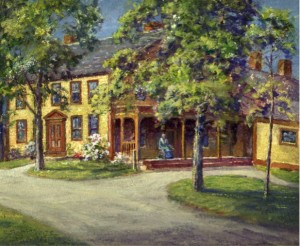 The Marsh family home in Belmont. The original painting of this house is in the collection of the Belmont Historical Society.