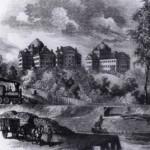 Original McLean Asylum in Somerville Massachusetts in the early 1800's